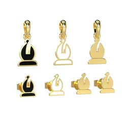 chess.656.jpg Download OBJ file Bishop pendant and earrings chess set 3D print model • 3D printing template, papcarlo