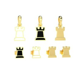 chess.643.jpg Download STL file Rook pendant and earrings chess set 3D print model 3D print model • 3D printer template, papcarlo