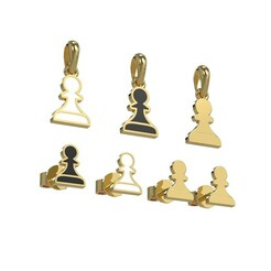 шопард кольцо.616.jpg Download STL file Pawn pendant and earrings chess set 3D print model 3D print model • 3D printer design, papcarlo