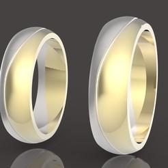 1 (1).jpg Download OBJ file 2 wedding rings set two-piece assembly • 3D print model, papcarlo