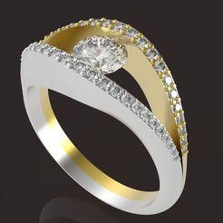 1.jpg Download STL file Female ring 5 mm main stone • 3D printable model, papcarlo
