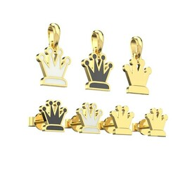 chess.628.jpg Download STL file Qween pendant and earrings chess set 3D print model 3D print model • 3D printing template, papcarlo