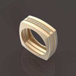 1.jpg Download OBJ file 9 stones male ring • 3D printable design, papcarlo