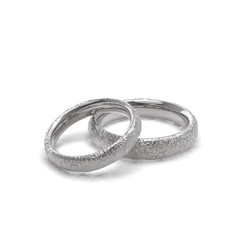 model 4.85.jpg Download OBJ file Small stones texture wedding rings • 3D printer template, papcarlo