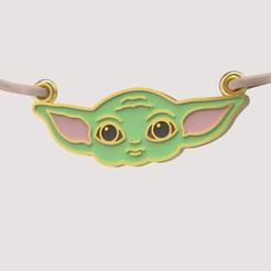 Download 3D printer templates Baby yoda pendant, papcarlo