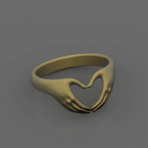 Descargar diseños 3D mano de anillo, papcarlo