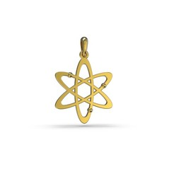 model 4.255.jpg Download OBJ file Atom pendant • Object to 3D print, papcarlo