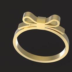 1.jpg Download OBJ file Bowknot ring • Model to 3D print, papcarlo