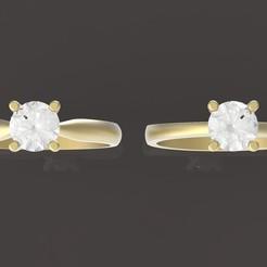 2 (2).jpg Download OBJ file 2 engagment ring diamond • 3D print model, papcarlo
