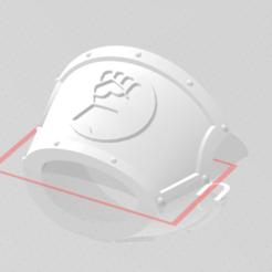 Immagine.png Download free STL file Imperial Fist Shoulder Marine CENTURION • 3D print template, alsom