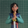 Télécharger STL Mulan - Fanart, LurkingFigures
