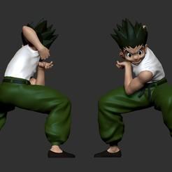 Download 3D printing files Gon Freecss - Hunter x Hunter - Anime 3D print model, LurkingFigures