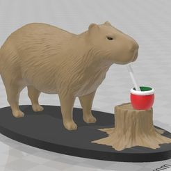 1.jpg Download 3MF file capybara drinking mate • 3D printer object, lucasgrillovcp