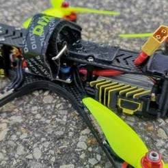 Download free 3D model Iflight DC5 HD DJI  and Crossfire Mounting Solution (Include GPS), JTR1