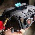 IMG_20200419_132058.jpg Download free STL file DJI FPV Goggles X-Air Faceplate integration • Design to 3D print, JTR1