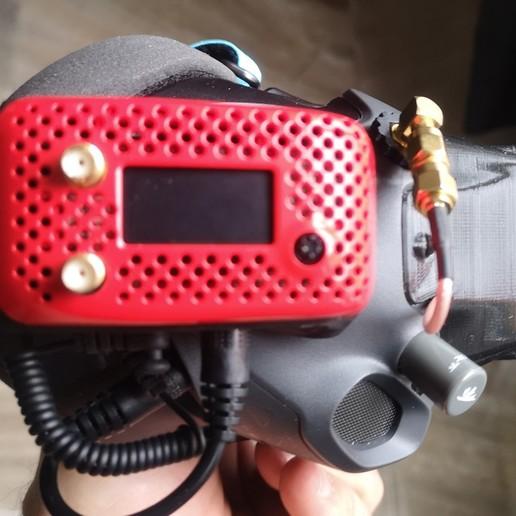 IMG_20200419_131913.jpg Download free STL file DJI FPV Goggles X-Air Faceplate integration • Design to 3D print, JTR1
