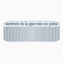 Download OBJ file Comb • 3D print design, PabloGomez