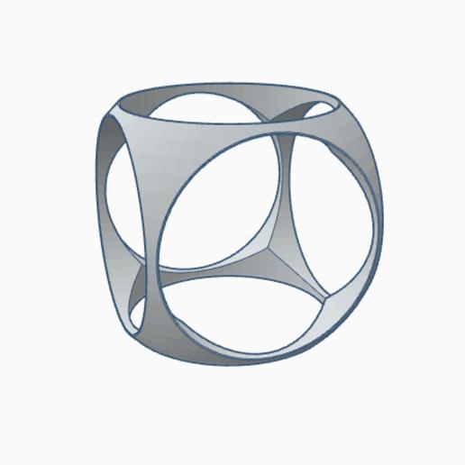 Imprimir en 3D gratis Anillo cúbico, PabloGomez