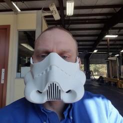 Square 1.jpg Download free STL file Storm Trooper mask • 3D printing template, SteelLegJ