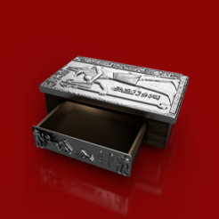 drawer box silver.PNG Download STL file egypt Jewelry box (drawer module + large lid) • 3D print object, J-beer