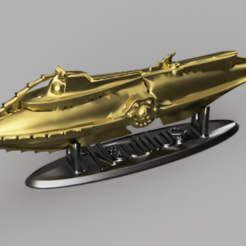 Nautilus render 1.png Download STL file submarine jewelry money safe Nautilus Jules Verne • 3D print object, J-beer