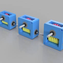 D-WGears_1.jpg Download STL file Worm Gear Boxes 1:10/1:15/1:20 • 3D print design, Dukubu