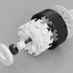 D-Generator_50W24V_AC_20200605_1.jpg Télécharger fichier STL Générateur d'électricité (50W, 24V) • Plan à imprimer en 3D, Dukubu