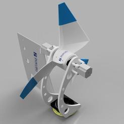 D-HWT_25W_TSR4_C0.4_DoubleStepper_20200620_10.jpg Download STL file Advanced Horizontal Axis Wind Turbine (50W, 50V) • Model to 3D print, Dukubu
