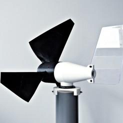 Télécharger fichier STL Éolienne à axe horizontal (25W, 24V), Dukubu