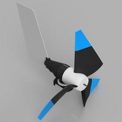 D-HWT_25W_TSR4_C0.4_AC_1.jpg Download STL file Horizontal Axis Wind Turbine (25W, 24V) • 3D print design, Dukubu