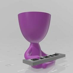 Robert pianista 2.jpg Download STL file Robert Plant - keyboardist, pianist, musician, music • Design to 3D print, henryestuardogm