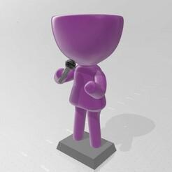 Robert cantante 1.jpg Download STL file Robert Plant - singer-songwriter microphone • 3D printable model, henryestuardogm