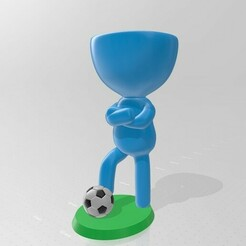 Robert futbolista 1.jpg Download STL file Robert Plant - footballer, soccer player, soccer, fut bowl • Template to 3D print, henryestuardogm