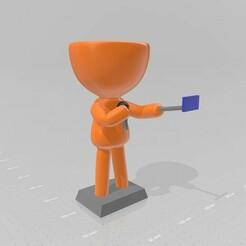Robert influencer 1.jpg Download STL file Robert Plant - Influencer, YouTuber, Reporter • 3D printable model, henryestuardogm