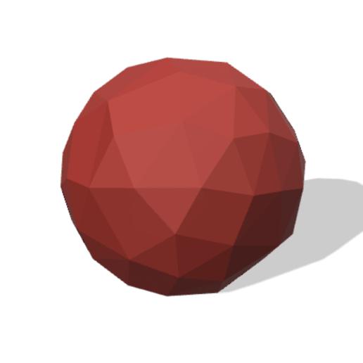 Download free 3D printer designs Low Poly Ball, MINIKIN