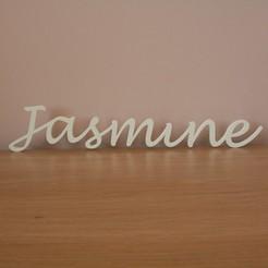 Jasmine.jpg Download STL file Jasmine Name Tag • Model to 3D print, MINIKIN