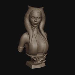 ahsoka busto cult 01.png Télécharger fichier STL Le buste d'Ahsoka Tano • Plan pour impression 3D, Gizmodels