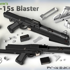 Final_Realistic_Thumbnail.jpg Download 3MF file S.W. DC-15s Blaster Carbine (Movie Realistic) • Design to 3D print, Jetstorm-3D