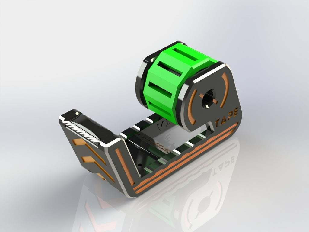 01.JPG Télécharger fichier STL gratuit Distributeur de ruban adhésif • Modèle imprimable en 3D, Jetstorm-3D