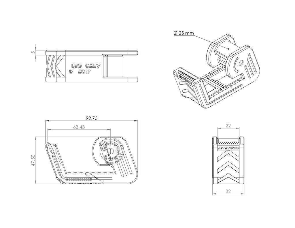 Dérouleur_Scotch_V2.0.JPG Télécharger fichier STL gratuit Distributeur de ruban adhésif • Modèle imprimable en 3D, Jetstorm-3D
