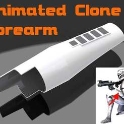 Download free STL files Star Wars Clone Armor Forearm, Jetstorm-3D