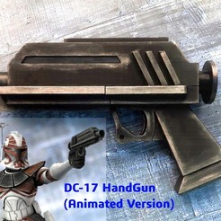 ThumbNail_Cults3D.jpg Download OBJ file DC-17 Hand Blaster (Clone Wars Animated Version) • 3D printable design, Jetstorm-3D