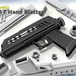 Download STL file DC-17 Hand Blaster (Movie Realistic), Jetstorm-3D