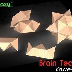 "Download free GCODE file Brain Teaser ""Galaxy"" • 3D print template, Jetstorm-3D"