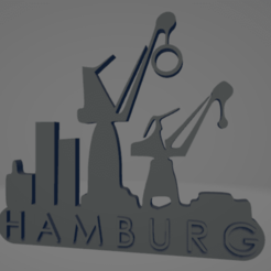 descarga - 2021-01-05T142622.779.png Download STL file Hamburg port keychain • 3D printer template, MartinAonL