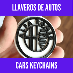 Download 3D printer designs Pack llaveros marcas de autos - Cars keychains pack, MartinAonL