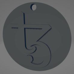 descarga (56).png Download STL file Tezos keychain - Llavero de Tezos • 3D printer model, MartinAonL