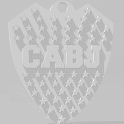 Download 3D printing designs Llavero de Boca Juniors, MartinAonL