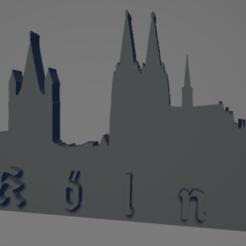 descarga - 2021-01-05T144005.048.png Download STL file Köln city keychain (silhouette) • 3D printer design, MartinAonL