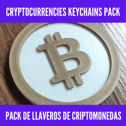 maria prieto (1).png Download STL file Cryptocurrencies keychains pack - Pack de llaveros de criptomonedas • 3D printable design, MartinAonL